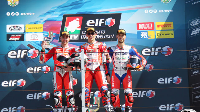 Photogallery: Elf CIV Round 1 Superbike – Misano Podio Gara 1