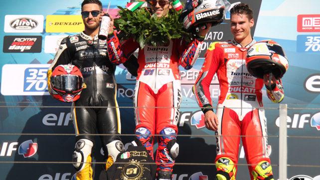 Photogallery: Elf CIV Round 6 Superbike – Vallelunga Podio