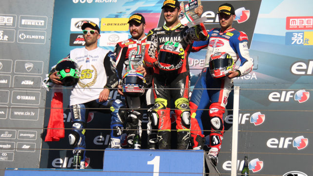 Photogallery: Elf CIV Round 6 Supersport – Vallelunga Podio