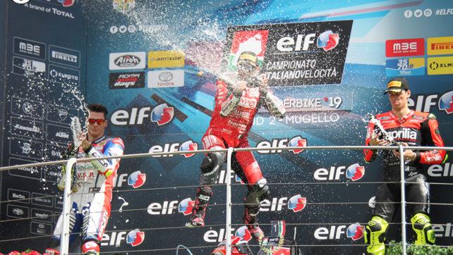 Photogallery: Elf CIV Round 2. Mugello Superbike – Podio Gara 1
