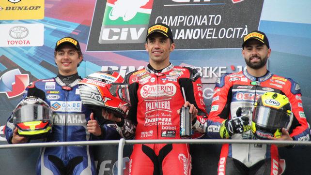 Photogallery: Elf CIV Round 2. Mugello Superbike – Podio Gara 2